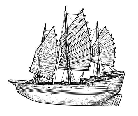 dessin bateau encre de chine illustration de bateau d ordure dessin gravure encre
