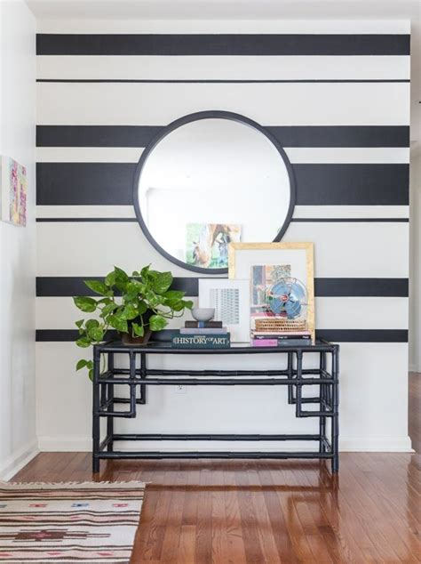 striped wall holly ryan s modern vintage mix striped walls