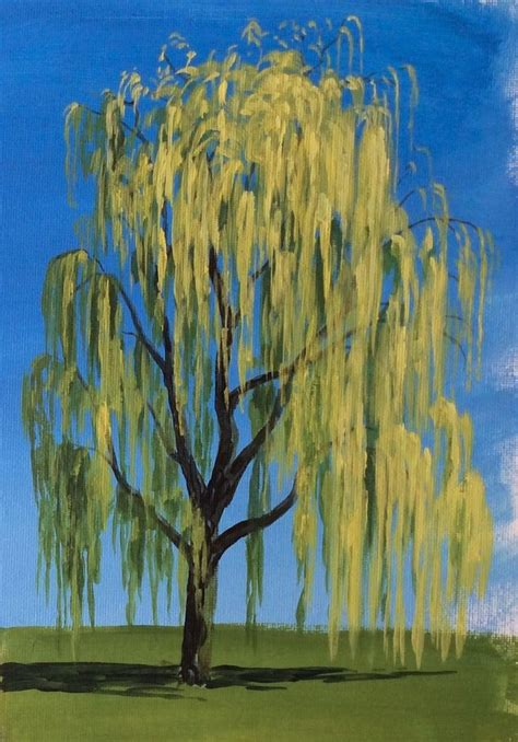 acrylic paint trees learn how to paint a willow tree in acrylics with jon cox