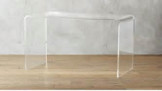 acrylic desk peekaboo acrylic desk cb2