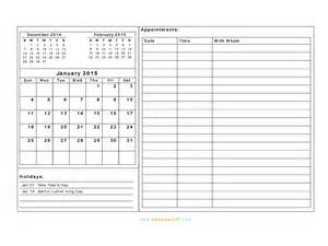 free printable daily appointment calendar templates