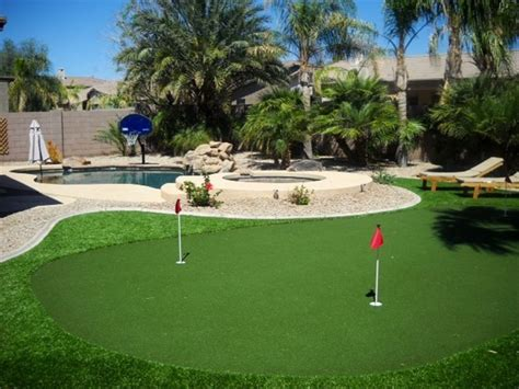 putting a pool in a small backyard family and golf friendly putting green pool vrbo