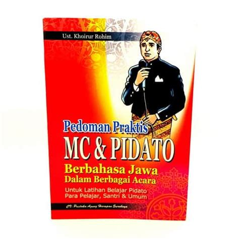 Buku Belajar Pidato Mc Gj buku pedoman praktis mc dan pidato berbahasa jawa pusaka