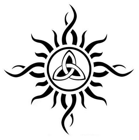 tribal triquetra tattoo sun celtic pencil and in color sun celtic