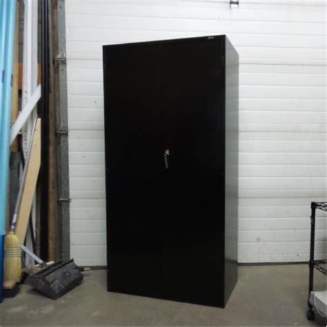 used locking metal storage cabinet global black adjustable 5 shelf metal storage cabinet