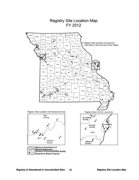 map of hazardous waste sites 89 toxic waste sites in missouri 171 mogreenstats