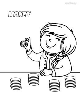 coloring pages with money printable money coloring pages for kids cool2bkids