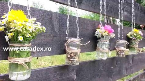 decorare gradina decoratiuni din borcane pentru gradina sau balcon diy
