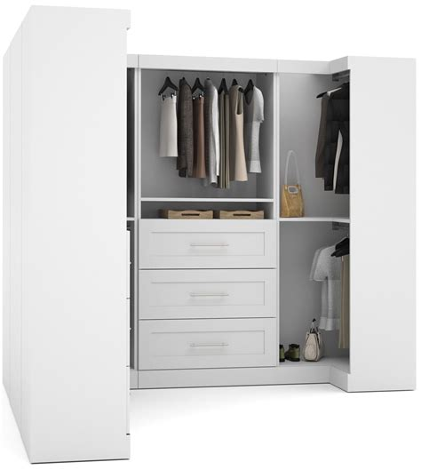 Coleman Wardrobe by White 100 Quot Optimum L Shaped Wardrobe From Bestar