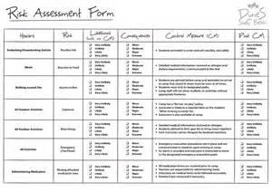 risk assessment template doc 7681024 risk assessment template risk