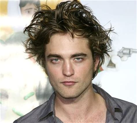 wild spiky hairstyles actor robert pattinson image with his long spiky hair