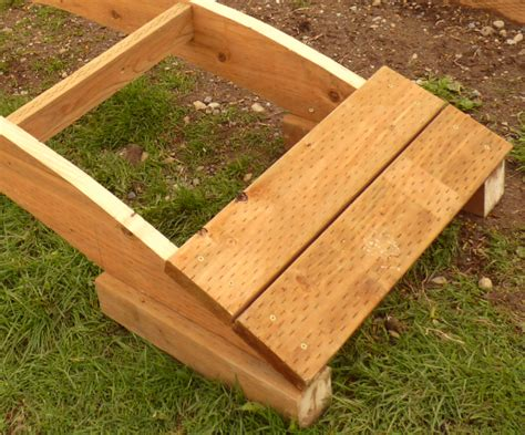 how to make a wooden bridge how to build a wooden garden bridge easy things to make