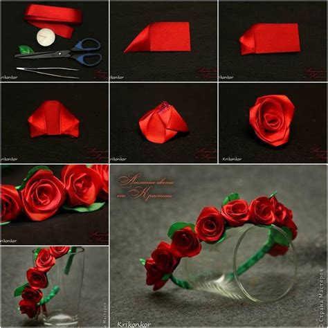 How To Make Handmade Flowers From Ribbon - how to diy pretty satin ribbon flower hairband satin and