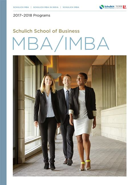 Schulich Mba At A Glance by Mba Imba Viewbook 2017 By Schulich School Of Business Issuu