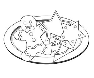 coloring pages christmas cookies christmas cookies coloring pages