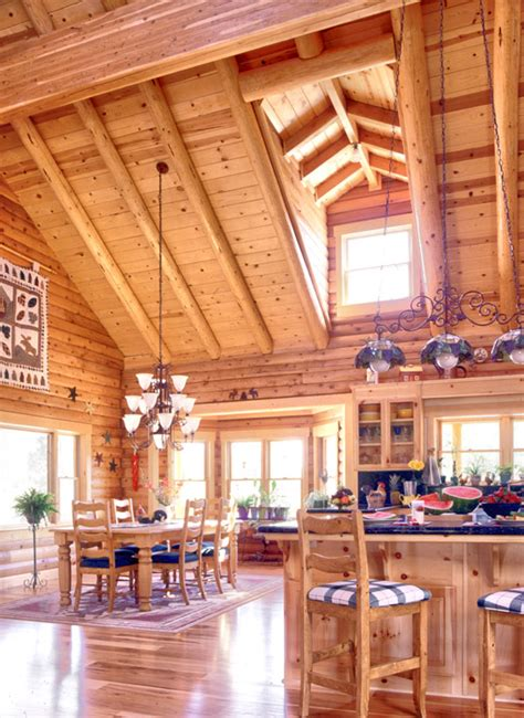 Open Floor Plan Log Homes Open Floor Plans 171 Real Log Style