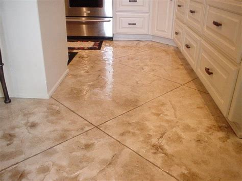 17 Best Images About Country Kitchens On Pinterest Concrete Kitchen Floor