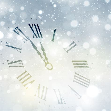 new year background happy new year background with clock vector free
