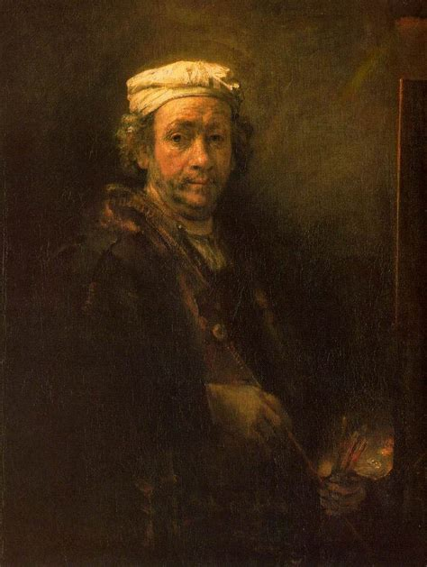 rembrandts universe his art rembrandt artist at his easel 1660 self portrait ڿڰ
