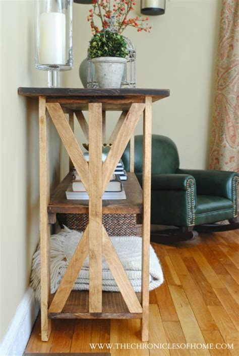 X Base Console Table Tutorial Rustic X Base Console Table The Chronicles Of Home