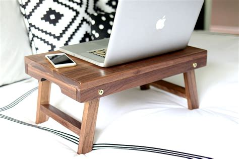 How To Build A Folding Lap Desk Or Breakfast Tray Diy Laptop Desk