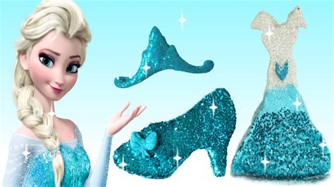 Frozen Elsa Silk Pink Dress play doh sparkle disney princess dresses shoe high heel frozen elsa magiclip toyboxmagic