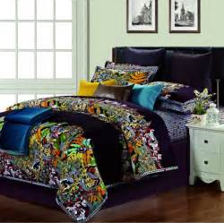 Colorful Quilt Bedding Cotton Silk Satin Colorful Comforter Bedding Set