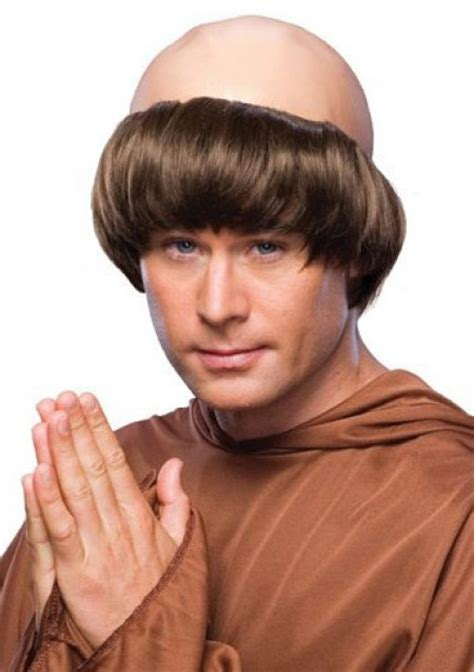 wigs for bald spots adult s bald monk wig friar tuck costume wig
