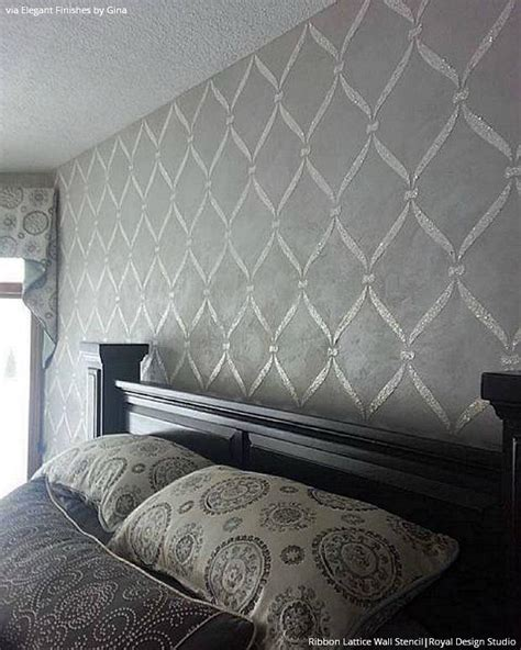 wall stencils ideas for dreamy bedroom decor