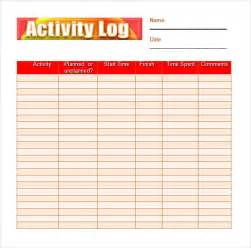 activity log template image gallery monthly activity log template