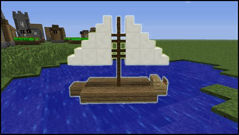 how to build a working boat in minecraft no mods minecraft tutorial how to make a sail boat youtube