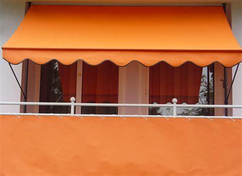 markisen paradies gutschein balkonbespannung 90 cm design uni orange pe