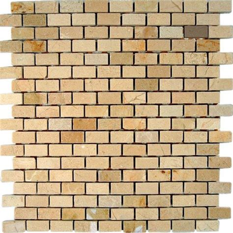 splashback tile crema marfil bricks 12 in x 12 in x 8 mm