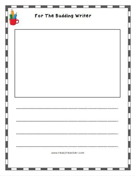 k5 printable writing paper printable writing paper for 2nd graders free journal