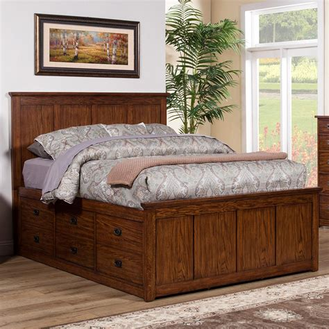 queen captains bed winners only colorado bcq1001qs queen storage bed with 6