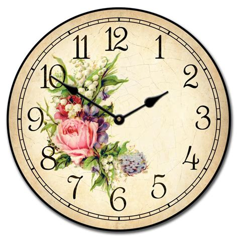 country style wall clocks floral clock the big clock store