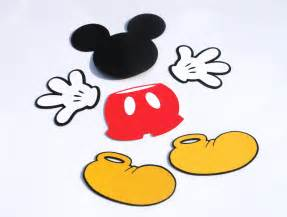 mickey mouse shape template mickey mouse die cut set mickey mouse clubhouse ears