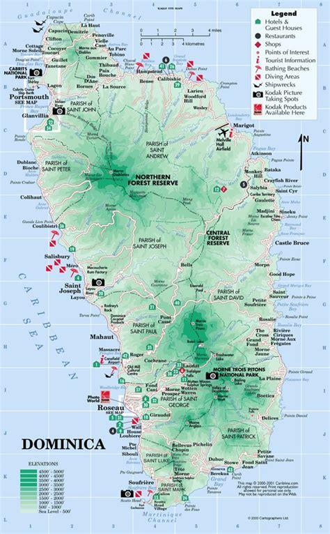 dominica on a map dominica fluss karte