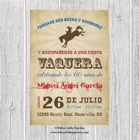 imagenes de tarjetas vaqueras spanish cowboy invitation fiesta vaquera invitacion en