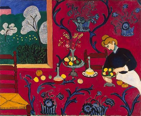 painting a room red red room henri matisse hermitage museum