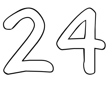 Coloring Page 24 by Color By Number Printables Number 24 Color By Number Org