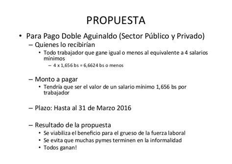 pago de aguinaldo 2016 a empleados publicos neuquen costos laborales en bolivia y propuesta 2do aguinaldo