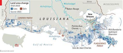 louisiana coastline erosion map louisiana fights the sea and loses coastal erosion