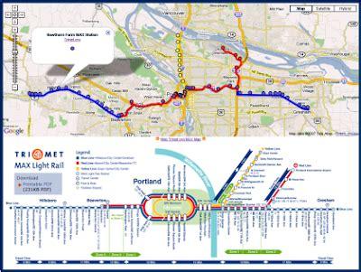 portland light rail map map portland trimet max light rail on maps