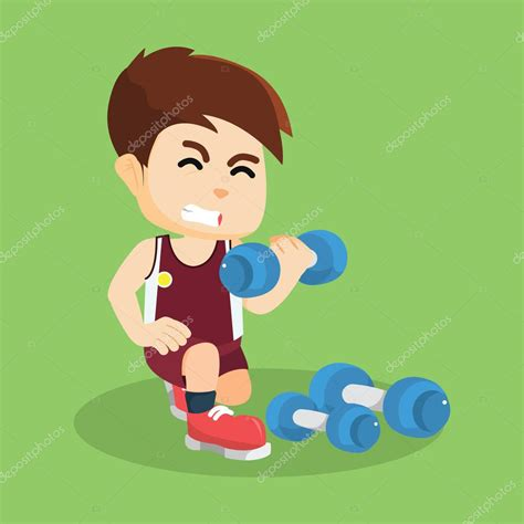 imagenes niños haciendo ejercicio ni 241 o haciendo ejercicio con dumbell vector de stock