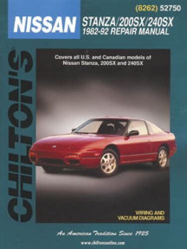 hayes auto repair manual 1992 nissan 240sx electronic valve timing chilton nissan stanza 200sx 240sx 1982 1992 repair manual