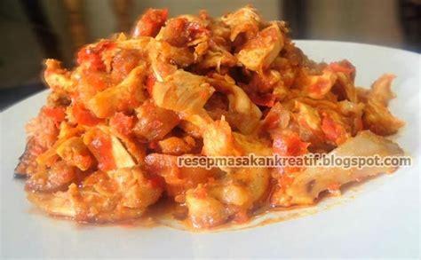 resep ayam suwir bumbu pedas aneka resep masakan