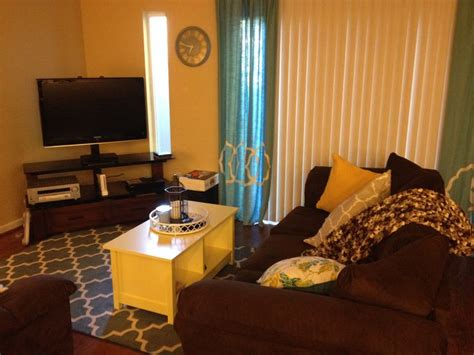 Yellow Blue And Brown Living Room Yellow Blue Brown Small Living Room Home Sweet Home
