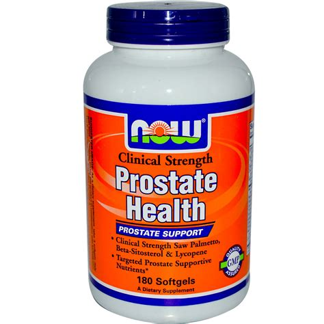 now health now foods prostate health clinical strength 180