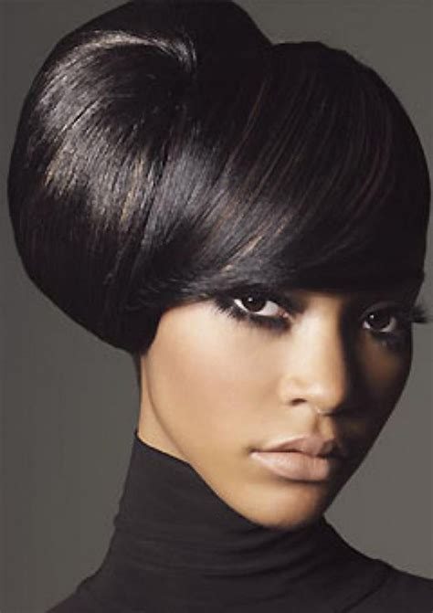 black people updo with bangs updo hairstyles for black women with long hair